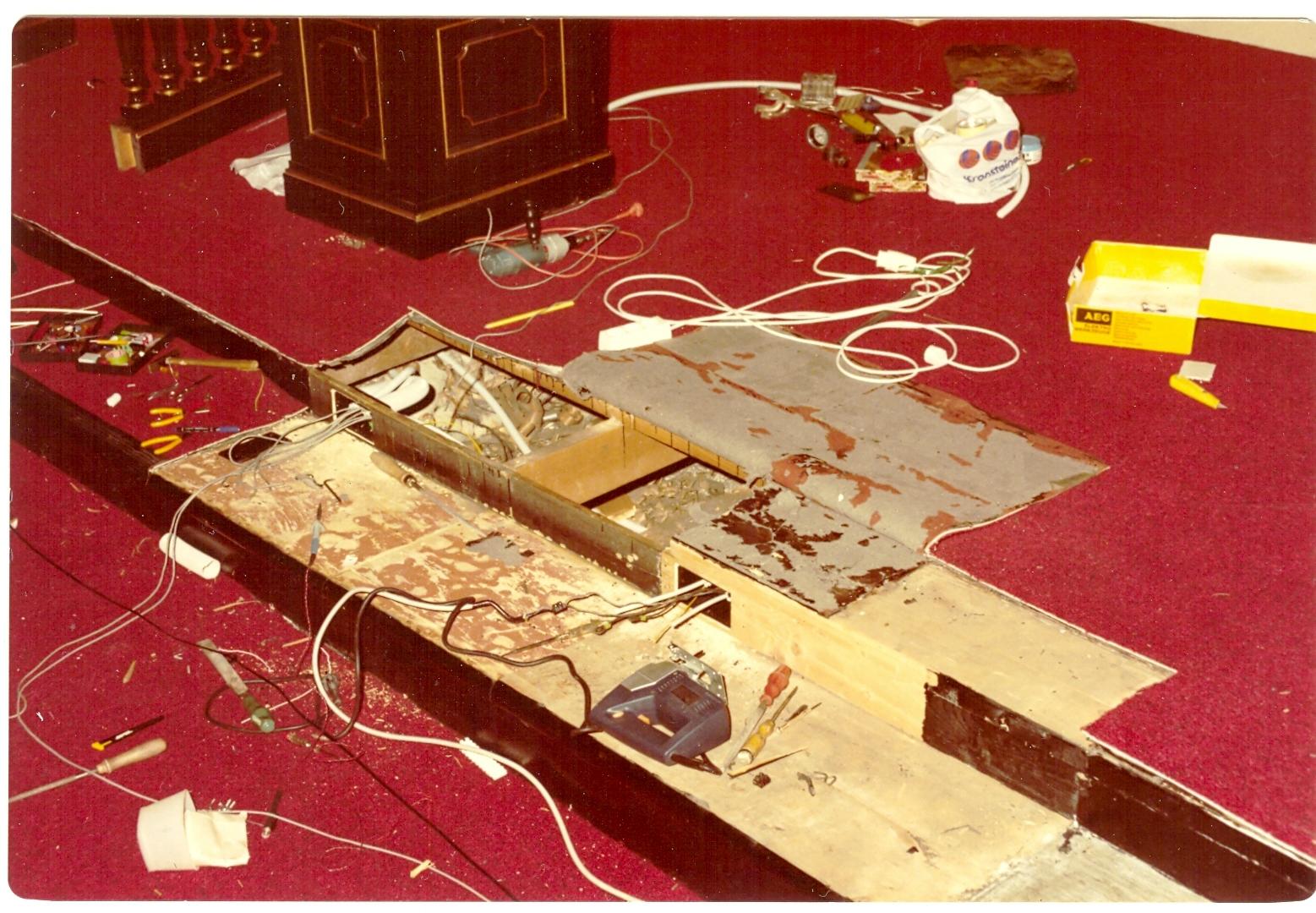 Umbau im Festsaal 1983